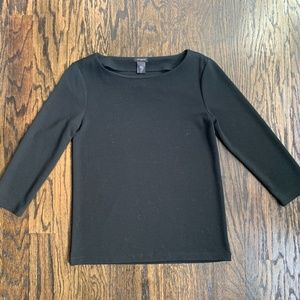 "Ann Taylor Ribbed Knit Top (3/4"" Sleeves)"